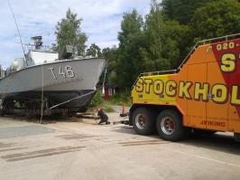 Kopplad och klar för sjösättning
