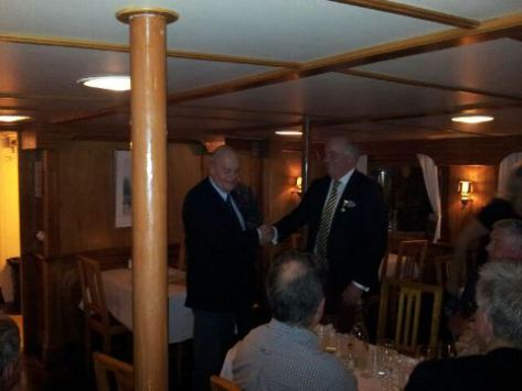 Vår ordförande Jan tilldelas Veteranflottiljens förtjänsttecken